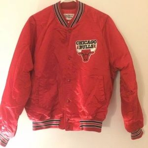 Vtg NBA 80's Chalk Line Satin CHICAGO BULLS Jacket